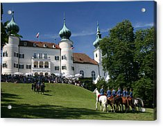 Acrylic Print featuring the photograph Artstetten Castle In June by Travel Pics