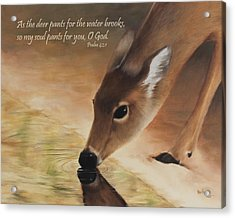 As The Deer Verse Acrylic Print by Becky West