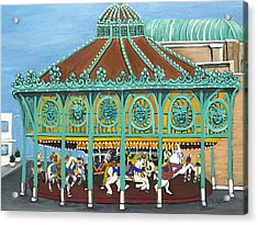 Asbury Park Carousel House IIi Acrylic Print by Norma Tolliver