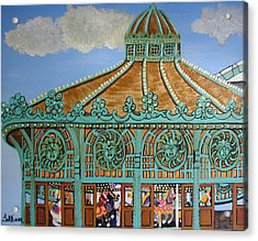 Asbury Park Carousel House Acrylic Print by Norma Tolliver