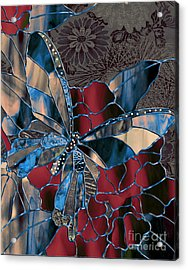 Asian Butterfly Acrylic Print by Mindy Sommers
