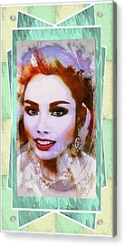 Asian Culture Pop Art Girl Acrylic Print by Ian Gledhill