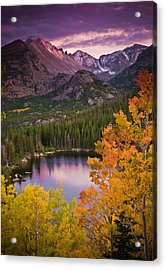 Aspen Sunset Over Bear Lake Acrylic Print by Mike Berenson