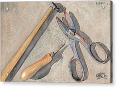 Assorted Tools Acrylic Print by Ken Powers
