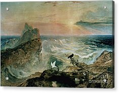 Assuaging Of The Waters Acrylic Print by John Martin