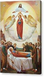 Assumption Of The Blessed Virgin Mary Into Heaven Acrylic Print by Svitozar Nenyuk