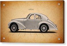 Aston Martin Atom Acrylic Print by Mark Rogan
