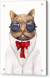 Astro Cat Acrylic Print by Animal Crew