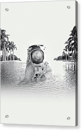Astronaut Acrylic Print by Fran Rodriguez
