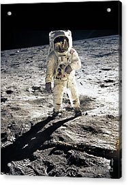 Astronaut Acrylic Print by Photo Researchers