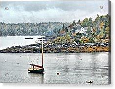 At Anchor - Maine Acrylic Print by Nikolyn McDonald