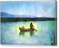 At Peace On The Water Acrylic Print by Rick Wicker