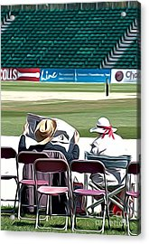 At The Cricket Match Acrylic Print by Andrew Michael