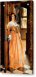 At The Doorway Acrylic Print by Laura Theresa Alma-Tadema