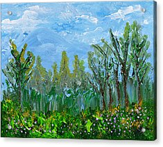 At The Forests Edge Acrylic Print by Donna Blackhall