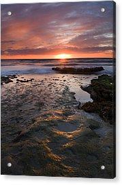 At The Horizon Acrylic Print by Mike  Dawson