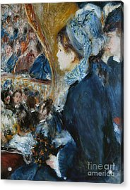 At The Theater Acrylic Print by Pierre Auguste Renoir