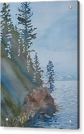 At The Water's Edge Acrylic Print by Jenny Armitage