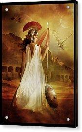 Athena Acrylic Print by Mary Hood