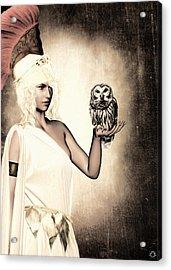 Athena Acrylic Print by Lourry Legarde