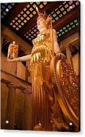 Athena With Nike Acrylic Print by Kristin Elmquist