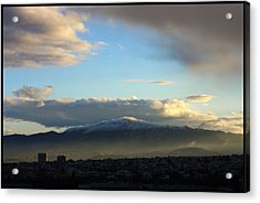 Athens Sunrise Acrylic Print by Julia Bridget Hayes