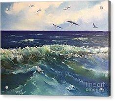 Atlantic In Summer Acrylic Print by Viktoriya Sirris