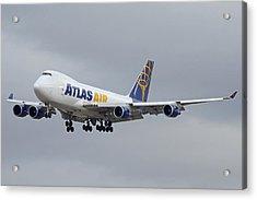 Atlas Air Boeing 747-47uf N415mc Phoenix Sky Harbor December 23 2015  Acrylic Print by Brian Lockett