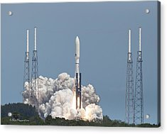 Atlas V Launch Acrylic Print by Mike Fitzgerald