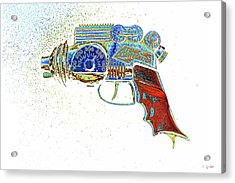 Atomic Disintegrator Ray Gun Particle Blaster Pop Art Acrylic Print by Tony Grider