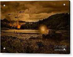 Attack At Nightfall Acrylic Print by Amanda Elwell