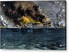 Attack On Fort Sumter Acrylic Print by War Is Hell Store