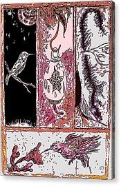 Attracting The Hummingbird Acrylic Print by Steve  Minton