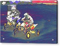 Atv Racing Acrylic Print by Karol Livote