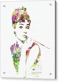 Audrey Hepburn 2 Acrylic Print by Naxart Studio