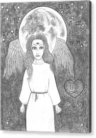 August Super Moon           Esoteric Angel 2015 Acrylic Print by Wendy Wunstell