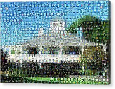 Augusta National Clubhouse Mosaic Acrylic Print by Paul Van Scott