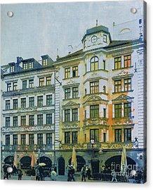 Augustiner Munich Acrylic Print by Jutta Maria Pusl