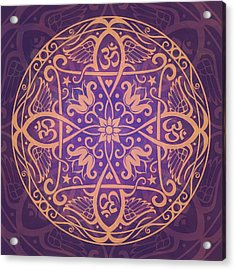 Aum Awakening Mandala Acrylic Print by Cristina McAllister