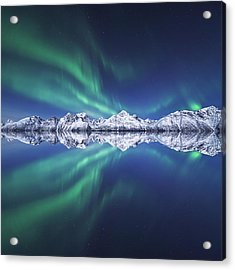 Aurora Square Acrylic Print by Tor-Ivar Naess