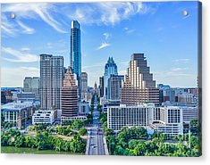 Austin Cityscape From Above Acrylic Print by Tod and Cynthia Grubbs