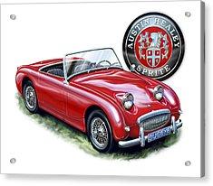 Austin Healey Bugeye Sprite Red Acrylic Print by David Kyte