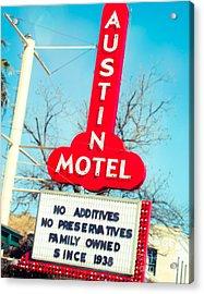 Austin Motel Since 1938 Acrylic Print by Sonja Quintero