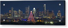 Austin Panorama Of The Trail Of Lights And Skyline Acrylic Print by Rob Greebon
