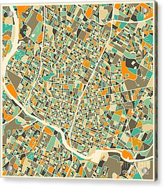 Austin Map Acrylic Print by Jazzberry Blue