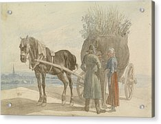 Austrian Peasants With A Horse And Cart Acrylic Print by Celestial Images
