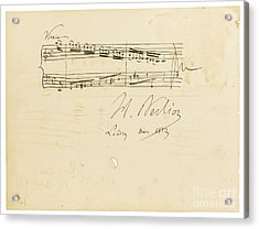 Autograph Album-leaf For Douard Silas Acrylic Print by Celestial Images