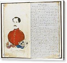 Autograph Manuscript Memoir Acrylic Print by William