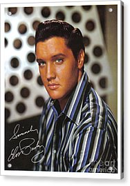 Autographed Elvis Acrylic Print by Pd