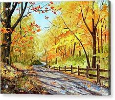 Autumn Afternoon Acrylic Print by Sarah Luginbill